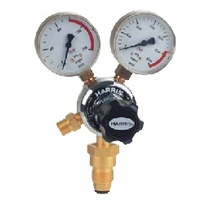 Harris Model 801 Oxygen pressure reg, Side Inlet, 0-1000kpa