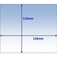 133x114mm Clear Lens