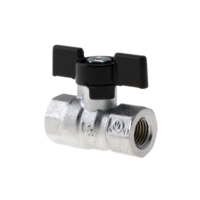 Ball Valve 1/4NPT Oxygen Black Handle