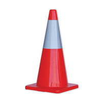 PRO Orange Hi-Vis Traffic Cones With Reflective Band - 700mm Height