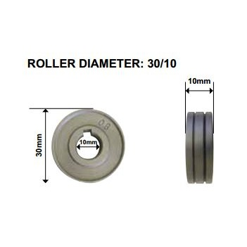 0.8-0.9mm Steel Drive Roll V Groove Unimig 0.8-0.9V30-10