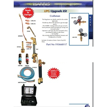 Harris Craftsman Oxy/LPG Upgrade Kit