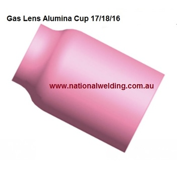 Gas Lens Alumina Cup Size 5 (8.0mm) Suits 17/18/26 Torch 54N17  Pkt : 2