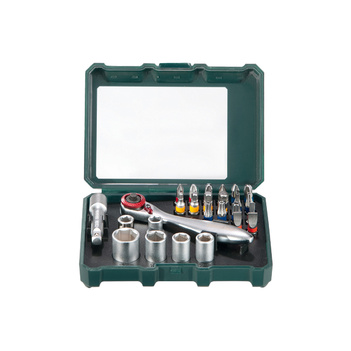 Bit Box & Ratchet Set 26 Piece Metabo 626701000