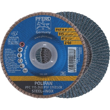 Polifan Flap Disc 4.5'' 60g 115mm General Purpose Inox/Steel Pferd 67770116