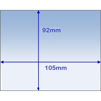 Clear Inner Lens 105 x 92mm For Weldclass Promax 500 PKT:5