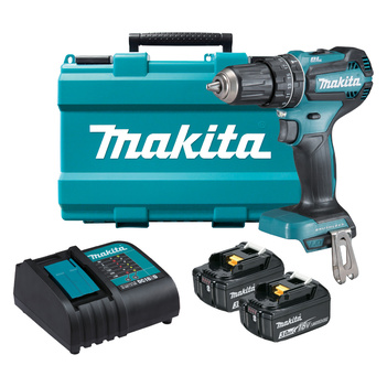 18V 50 Nm Torque Brushless Hammer Driver Drill Kit Makita DHP485SFE