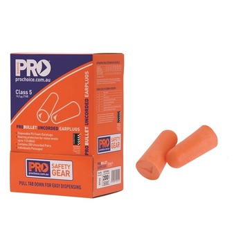 Disposable Probullet Uncorded Earplugs 200 Pairs ProChoice EPOU