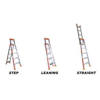 Aluminium Ladder 1.8 Metres Multipurpose Step/Leaning/Straight Bailey FS13862