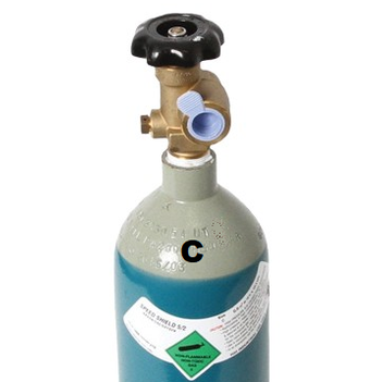 Size C Argon CO2 5/2 (Mixed) MIG Gas Includes Cylinder and Gas GasArCo2C
