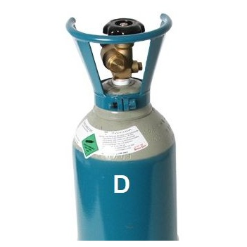 Size D Argon Co2 5/2 (Mixed) MIG Gas Refill (No Cylinder) GasArCo2D-re