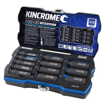 "Lok-On™ Deep Impact Socket Set 12 Piece 3/8"" Drive - Metric Kincrome K27078"