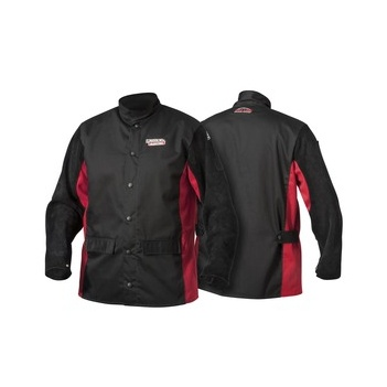 Welding Jacket Leather Sleeved Shadow Split Lincoln K2986_