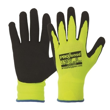 Hi-Vis Latex Foam Gloves Pro Choice LFN Pack of 12