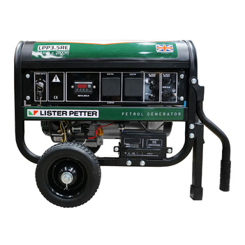 3.5 kVA Lister Petter Petrol Powered Portable Generator LPP3.5RE