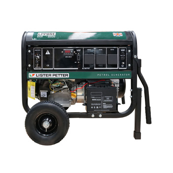 8 kVA Lister Petter Petrol Powered Portable Generator LPP8RE