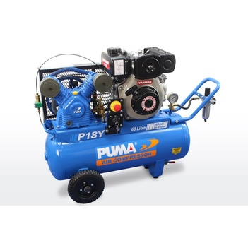 Air Compressor Electric Start Yanmar Diesel 60 Litres Puma PU P18Y ES