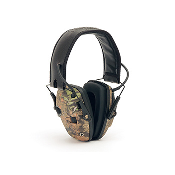 Impact Sport CAMO Slimline Sound Amplification Earmuff Honeywell R-10530