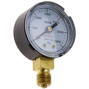Pressure Gauge 0 - 1,600 kPa Inert Gas For RC- Regulators SPRGC16IG