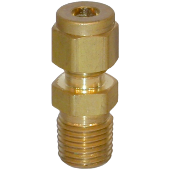 "Compression Fitting Brass 1/4"" NPT M - 1/4"" Tube SPRO1R1TB"