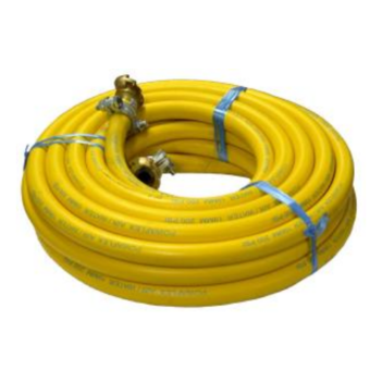 "¾"" x 20mt Yellow Rubber Fitted Compressor Hose"