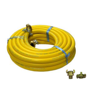 Yellow Rubber Fitted Compressor Hose